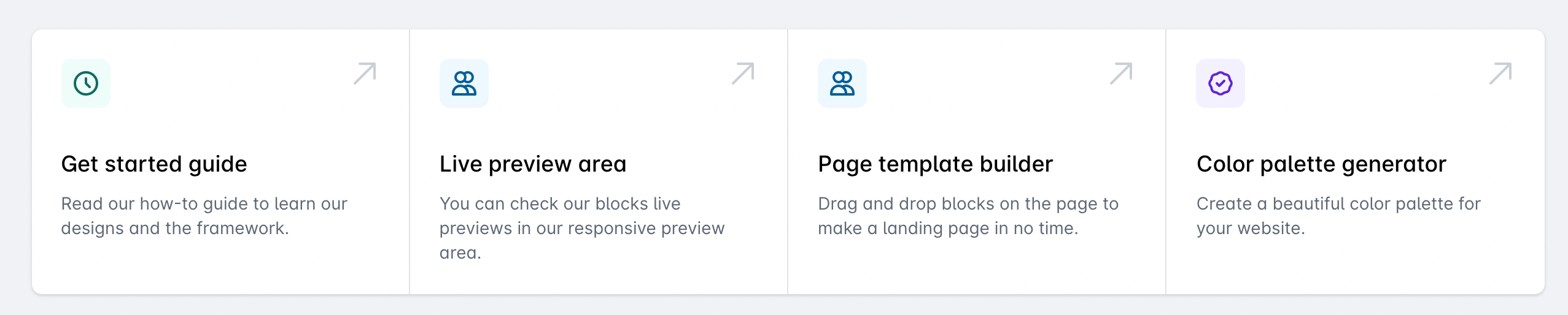 Quick links in the dashboard