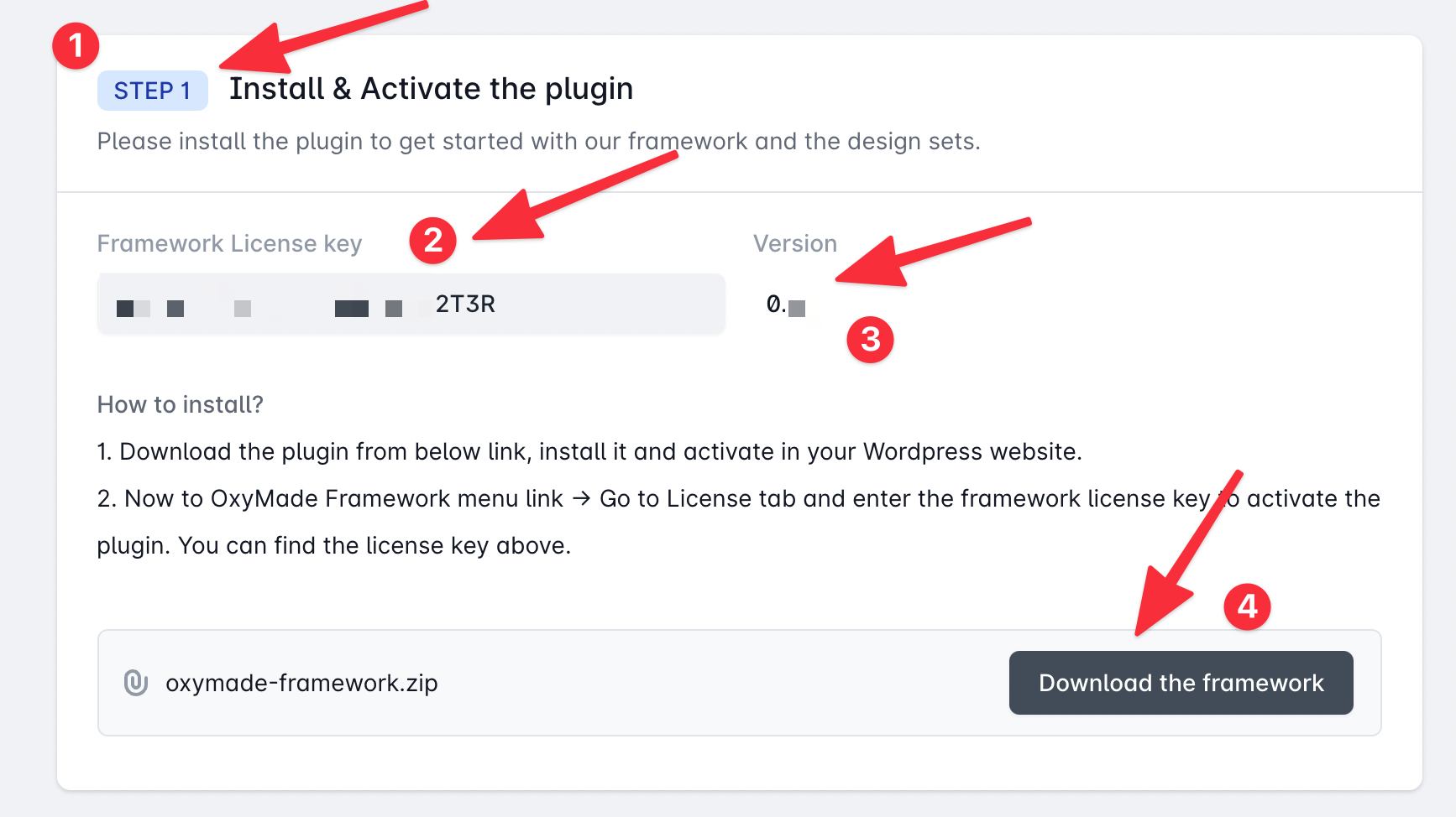 Finding details about the framework plugin