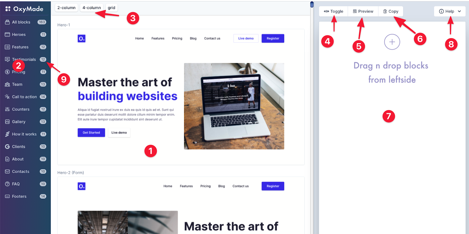 OxyMade page template generator