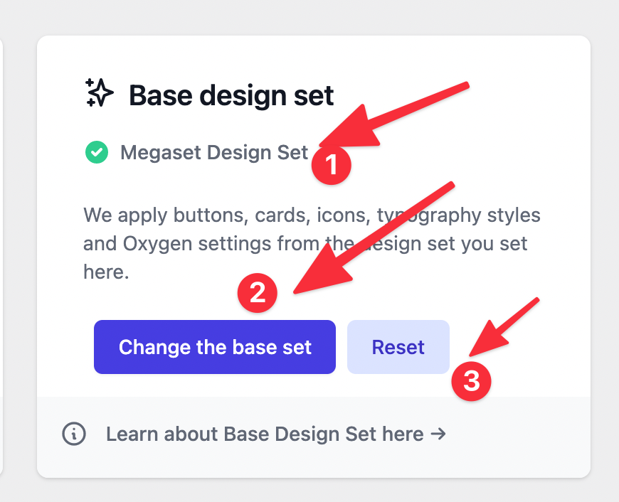 Base design set
