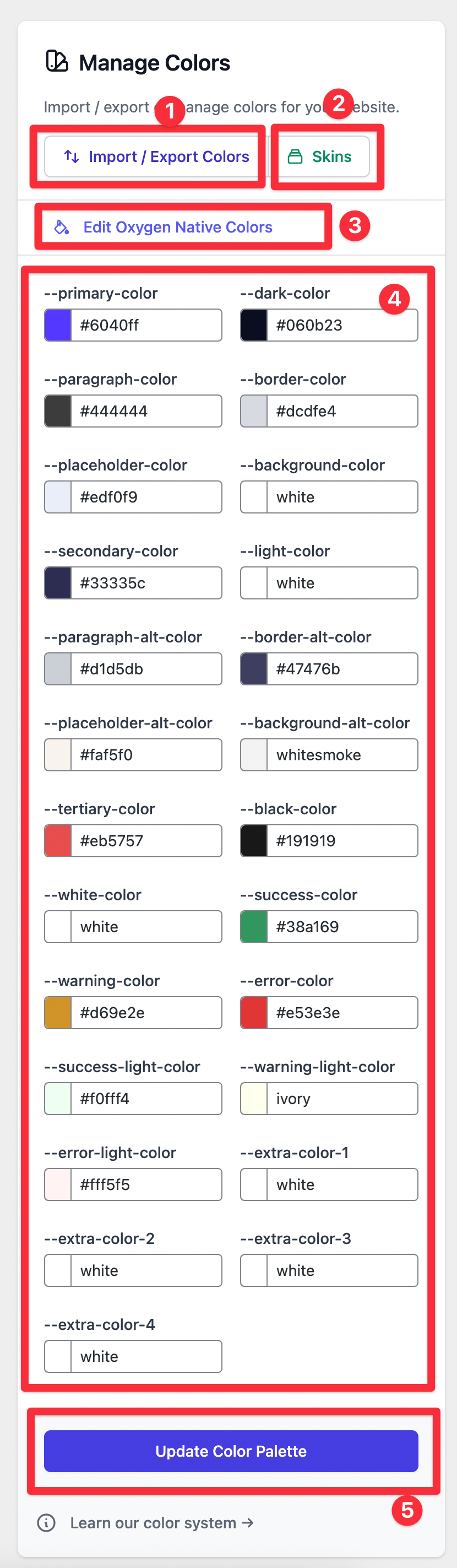 Install OxyMade Colors